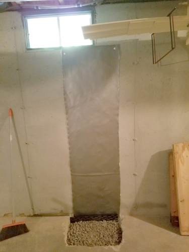Lally Column Replacement Concord NH - Premier Basement Waterproofing - 20160726_142021