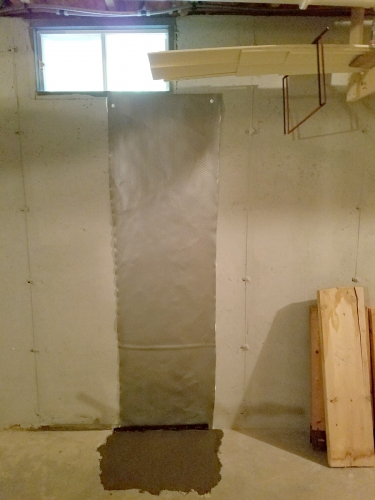 Lally Column Replacement Manchester NH - Premier Basement Waterproofing - 20160726_145737