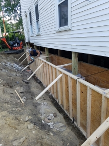Lally Column Replacement Amherst NH - Premier Basement Waterproofing - 20160819_121626