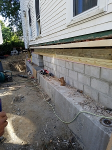 Lally Column Replacement Newton MA - Premier Basement Waterproofing - 20160830_114817
