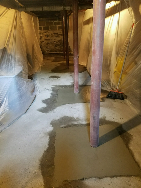 Lally Column Replacement Cambridge MA - Premier Basement Waterproofing - 29591