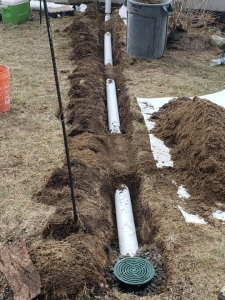 Discharge Line being buried