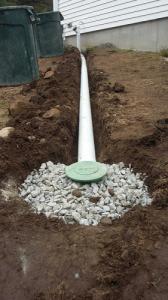 Bubble pot end for water dispursement