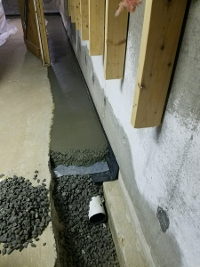 Drainage installation process (shown for layer image effects)