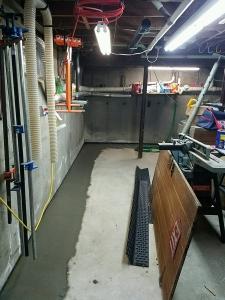 Finished perimeter drainage area