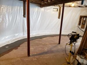 Vapor and Drainage in circular basement