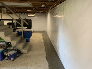 Finished waterproofing system