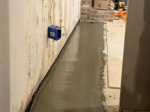 Finished drainage stsem